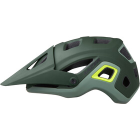 Lazer Impala Fietshelm, matte dark green flash-yellow